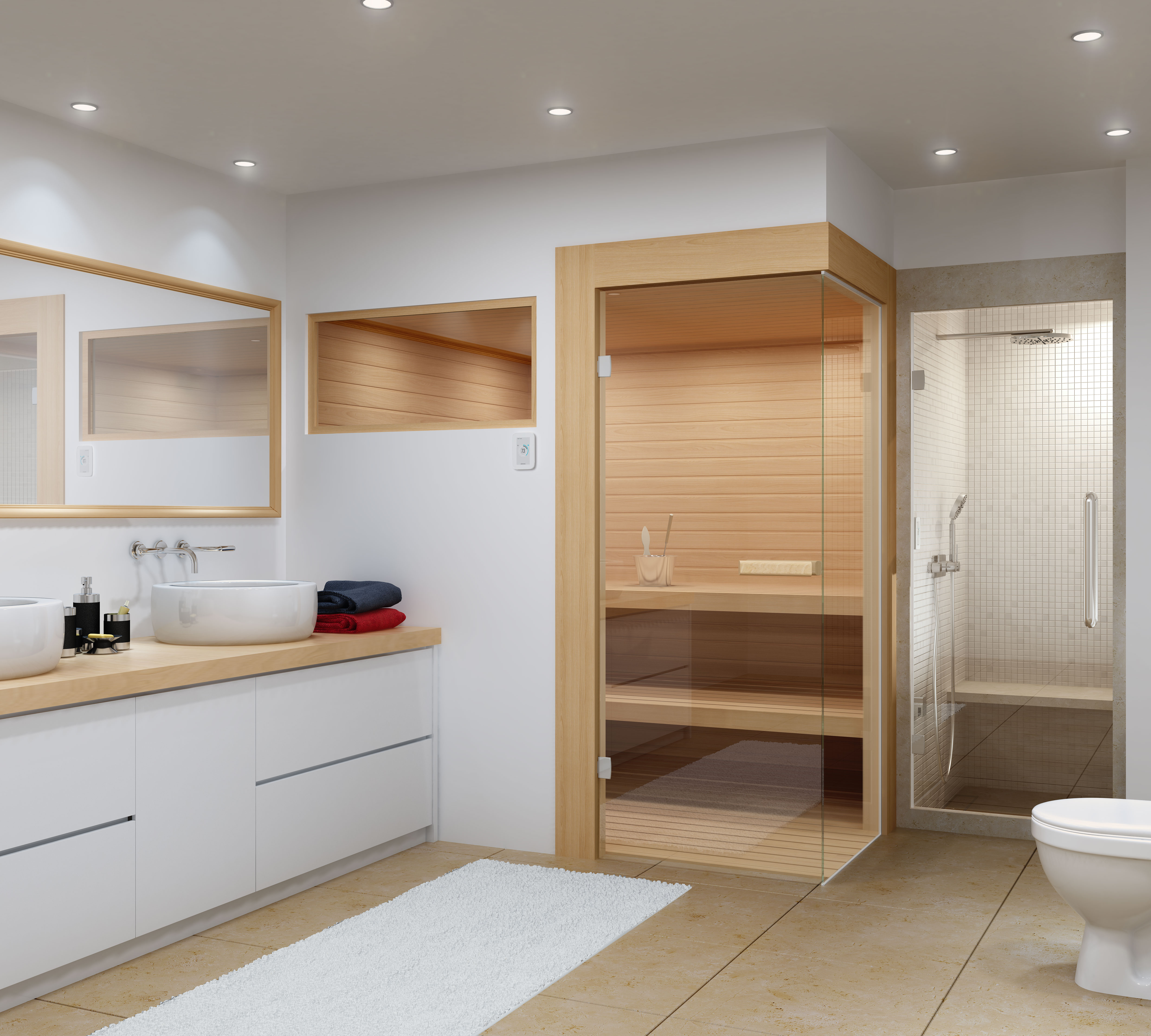 Amerec Sees Trend to Include Both Sauna and Steam in Bathroom Remodels