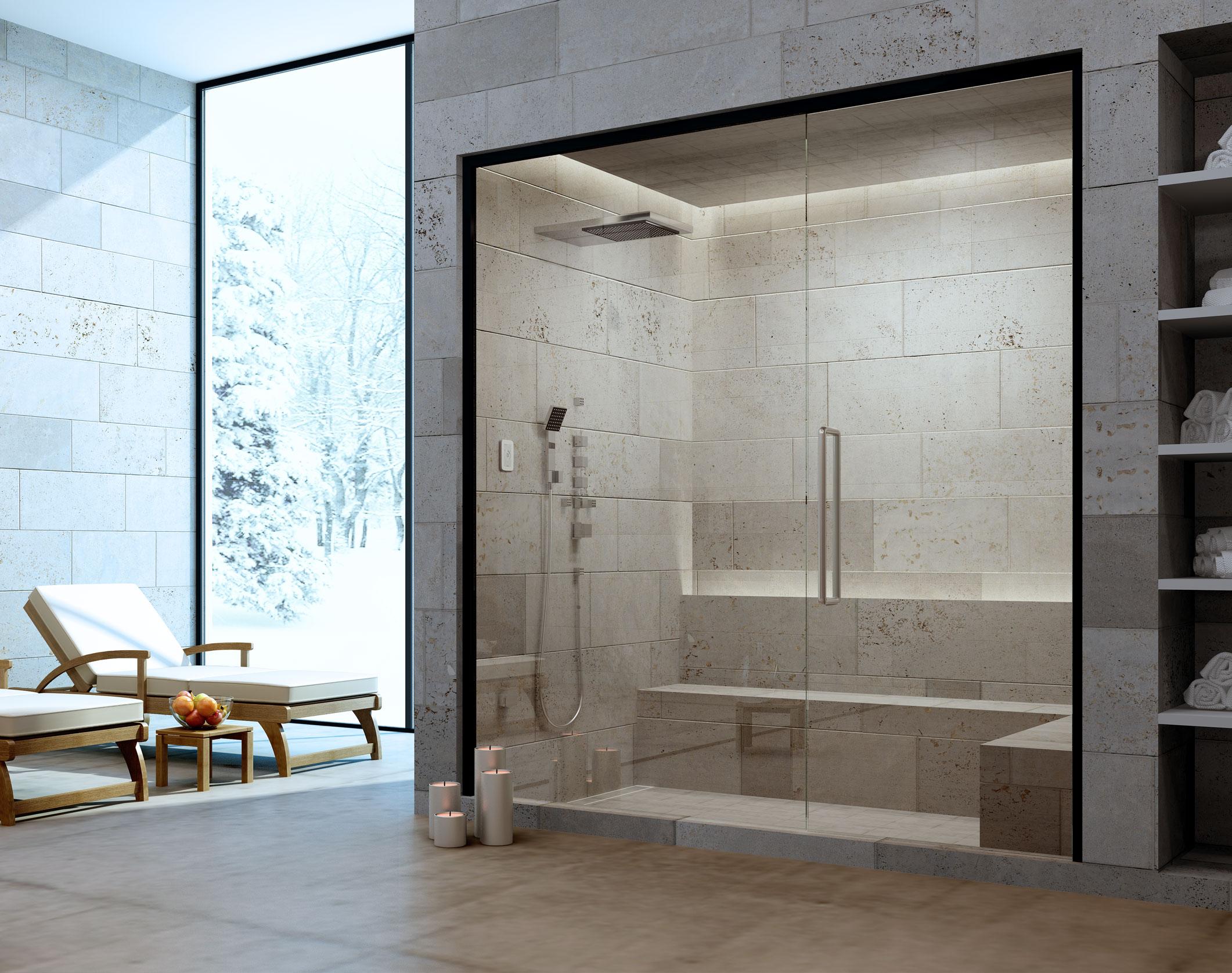 Amerec manufacturing steam sauna since 1963 for Bathroom design generator
